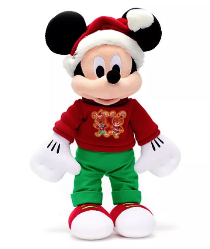 Peluche mediano Mickey Mouse Holiday Cheer