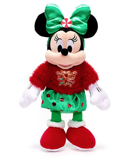 Peluche mediano Minnie Mouse Holiday Cheer