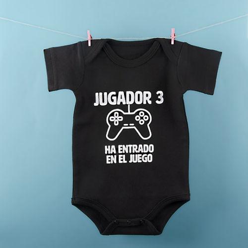 body para bebe jugador 3 ha entrado en el juego miss miserable