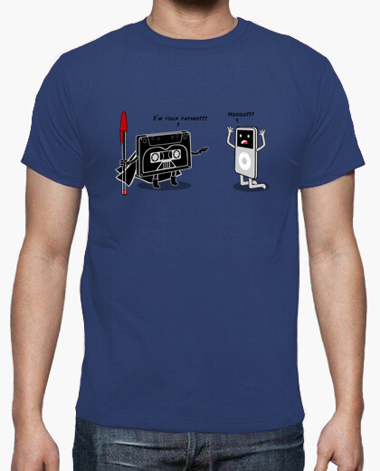 camiseta casete y ipod im your father