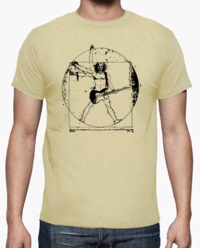camiseta hombre de vitruvio guitarrista