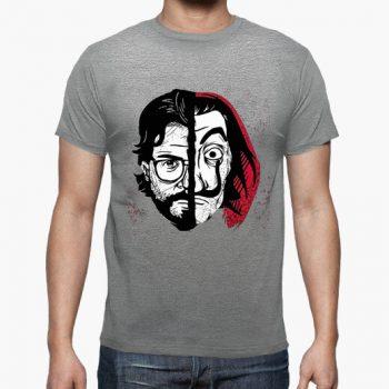 camiseta la casa de papel mascara