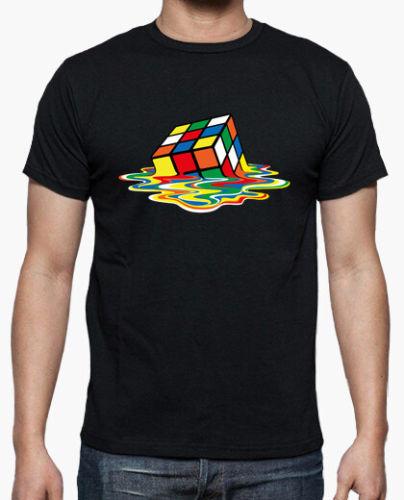 camiseta sheldon cooper cubo de rubik derretido