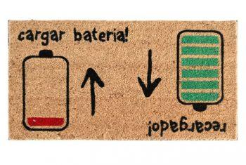 felpudo cargar bateria recargado