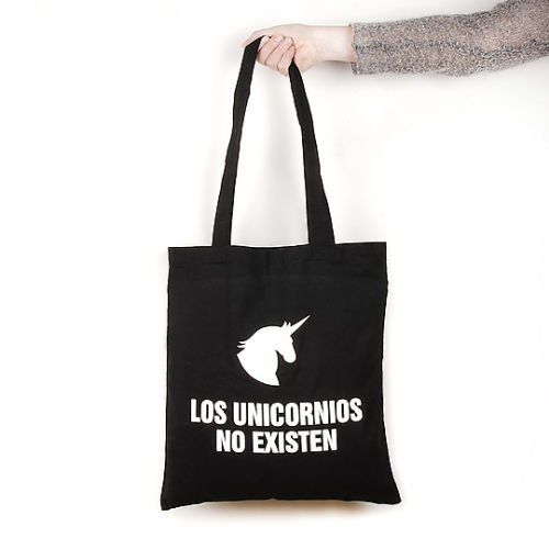 tote bag los unicornios no existen de miss miserable